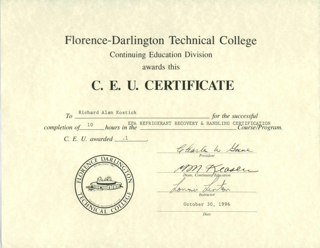Hvac New Epa Certification Hvac